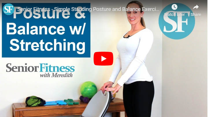 senior fitness with meredith standing posture