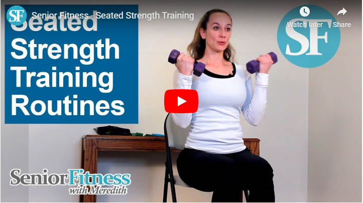 senior fitness with meredith seated strength training